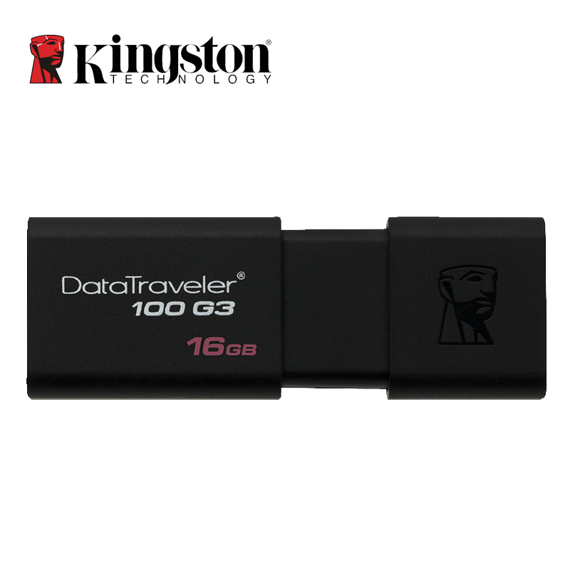 Kingston USB Flash Drives 8GB 16GB 32GB 64GB 128GB USB 3.0 Pen Drive Plastic Sleek Memory Memorias Disks Real Capacity DT100G3(China (Mainland))