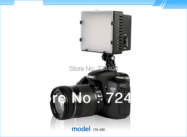 [Drop Shipping] Nanguang CN-160 LED Video Camera LED Light DV Camcorder Photo Light 5400K for Canon Nikon Free Shipping  ACRO