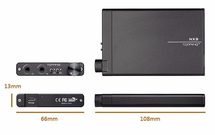 NEW TOPPING NX3 Portable Headphone Amplifier Hifi Stereo Audio Earphone Amplifier TPA6120A2 OPA2134 AMP