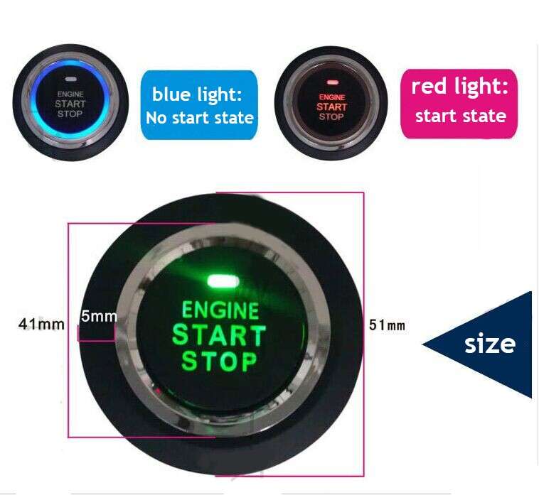 Car Engine Lock System Start/Stop System With PKE Car Alarm Keyless Go