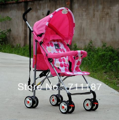 Comfortable Baby Car Umbrella Cart, Pink Childrens Stroller Light Stroller Pushchair Cheap Sale Free Shipping<br><br>Aliexpress