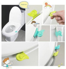 Toilet Clamshell Tool Toilet Seat Cover  Handles Potty Ring Handles Home Essential free shipping(China (Mainland))