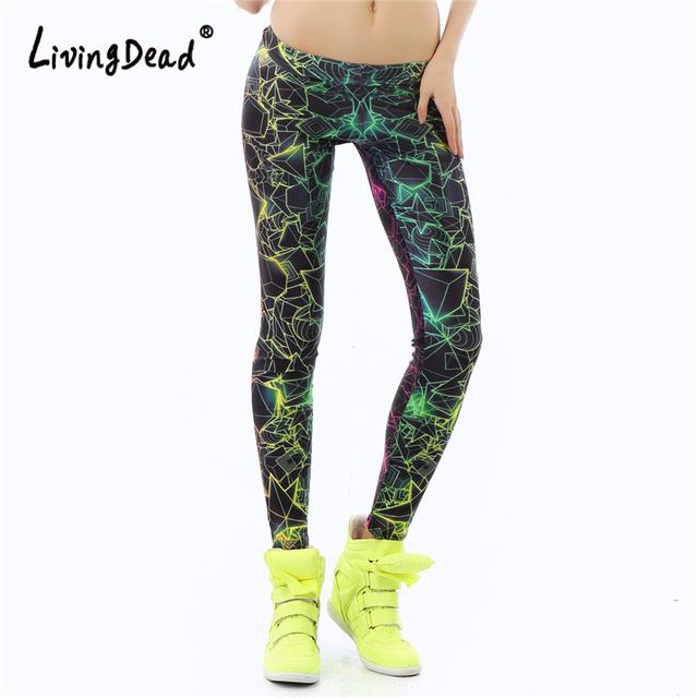 Living Dead New Fashion Women leggings Fitness 3D Printed color legins Ray fluorescence leggins pant legging for Woman