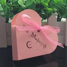 10 stücke Herz Eid Mubarak Candy Box Favor Box DIY Papier Geschenk Boxen Glücklich Islamischen Muslimischen al-Fitr Eid ramadan Decor Partei Liefert(China)