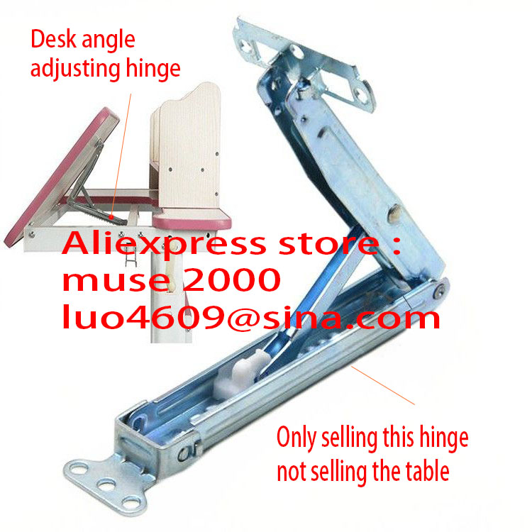 12 gears angle hinge connecter Drawing desk leaning Tilt angle adjusting Slope surface plate board alloy steel hinge hardware(China (Mainland))