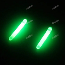 wholesale Verydeal worldwide Cheapest 2Pcs Night Rod Tip Clip-on Fishing Fluorescent Light Float Glow Stick Size S M L Affordabl(China (Mainland))
