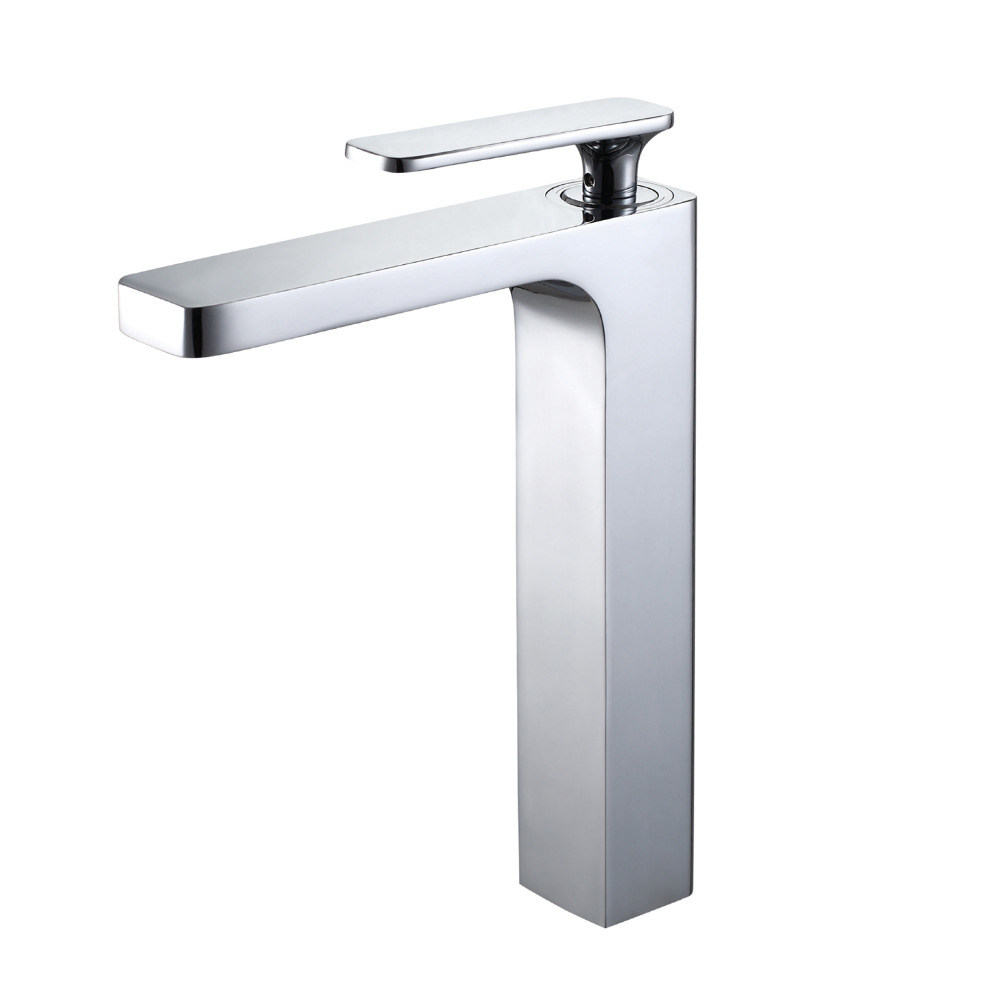 Luxury Waterfall Sink Faucet Chrome Single Handle Hole Mixer Bathroom Taps Widespread Basin Faucets Cold Hot Water Tap