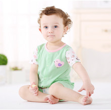 2015 Summer Newborn Baby open-seat pants short-sleeved onesie Romper Cute Infant Cotton Clothes-BD0020(China (Mainland))