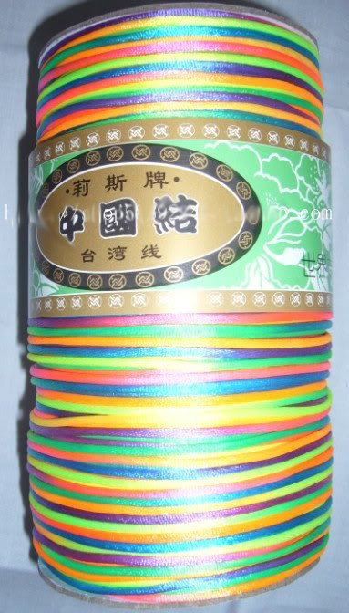 Perfect Quality !700m/roll Mixcolors Chinese Knot Beading String Jade Line DIY Craft jewelry Cord 1.5mm<br>