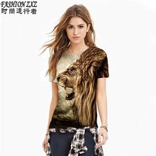 New fashion men/women harajuku t shirt print 3D Lionhead/cat wearing sunglasses/Star Cat t-shirt Casual tee shirts tops hiphop