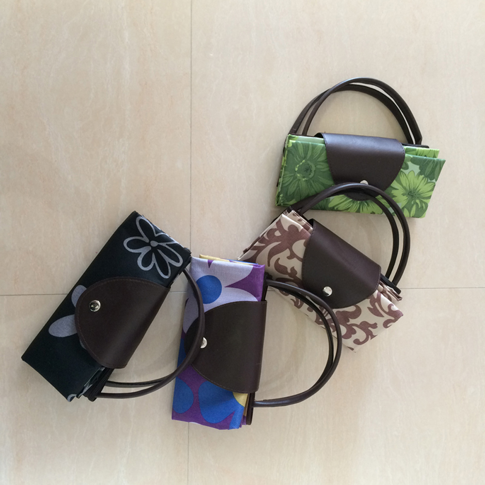 Shopping Bag Hot Sale High Quality Women Reusable Bags Foldable Shopping Bags Women Waterproof Nylon Recycling Bags(China (Mainland))