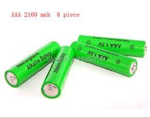 Wholesale  AAA Battery 2100mah 1.5V  Alkaline Rechargeable Battery for Remote Control Toy cameras Free ship(China (Mainland))