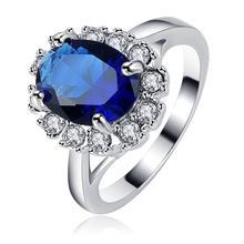 2015 New Arrival Top Quality Princess Elegent Sapphire Rings Platinum Plated Romantic Rings Bijoux Fine Jewelry Ri-HQ1131-B(China (Mainland))