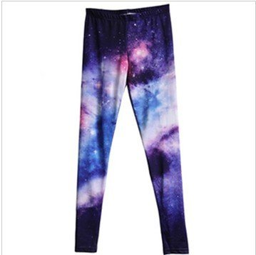 East Knitting BL-233 Plus Size Women  pants Space Printed Shiny Leggings Women  FREE SHIPPING Best Quality