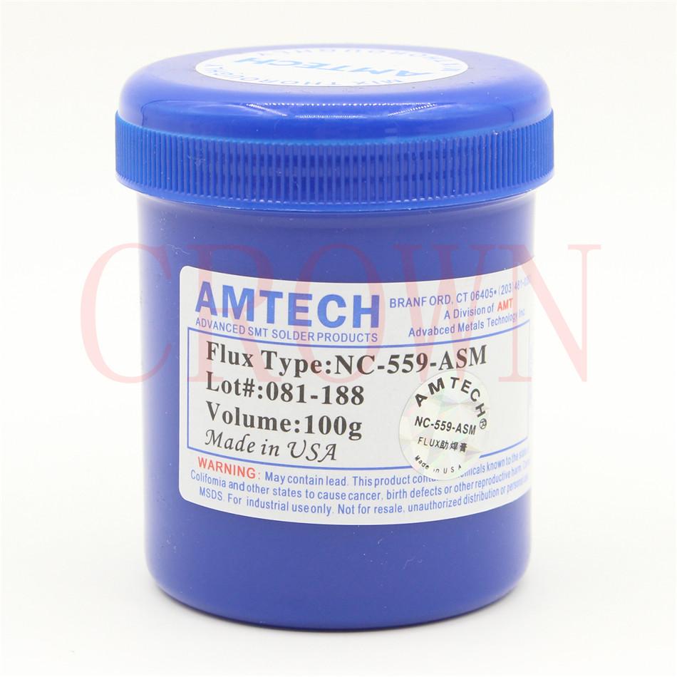 USA! 100g AMTECH NC-559-ASM Flux paste lead-free solder paste solder flux(China (Mainland))