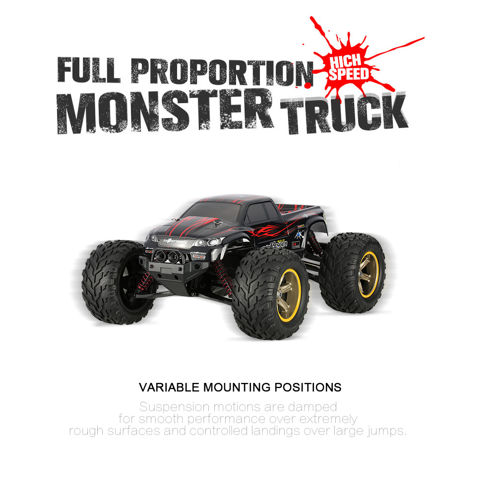 Hot Sale Original GPTOYS Foxx S911 Monster Truck 1/12 RWD High Speed Off-Road Remote Control RC Car(China (Mainland))