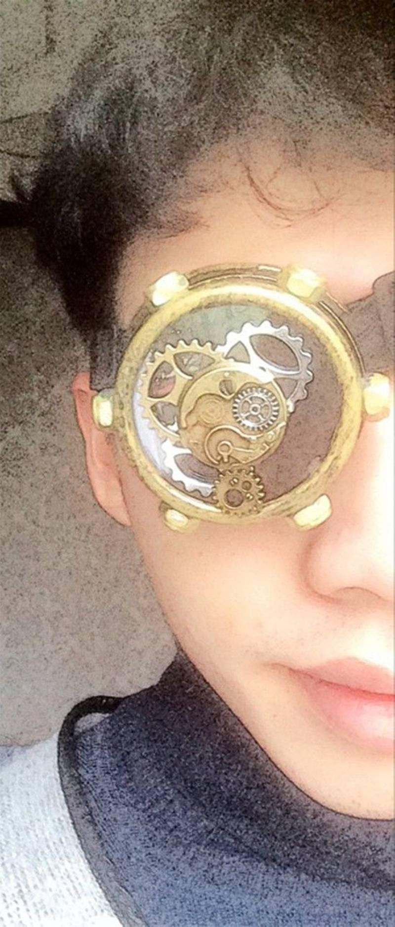 1pc Steampunk Gear Mask Eye Patch