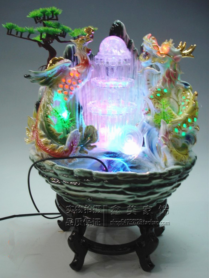 Ceramic home accessories humidifier water indoor fountains for Water feature feng shui