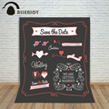 Wedding Background Vintage Party Invitation Love Blackboard Template Graphic Chalkboard Save the date Doodle backdrops