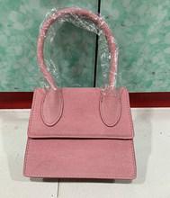 Büyük Saplı Basit Tasarımcı omuz çantası Yumuşak Buzlu Kare Kadın Crossbody Çanta Omuz Askısı askılı çanta Küçük Tote Flap(China)
