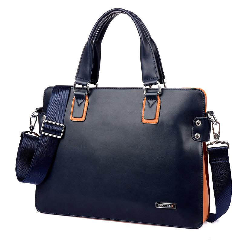 New Fashion Design Men's Messenger Bag Casual Man Bag Leather Briefcases organizer Bag 4Color(China (Mainland))