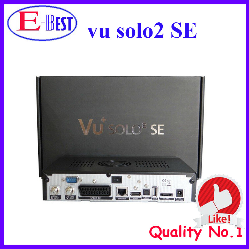 Vu solo2 se twin tuner decoder vu solo 2 se Linux reciever 1300 MHz CPU 2 dvb-s2 tuner STB digital satellite tv recever(China (Mainland))