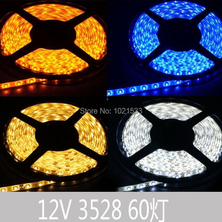 Free shipping IP65 Waterproof 5M 3528 LED Strip Light 300 led DC 12V outdoor led strip(China (Mainland))