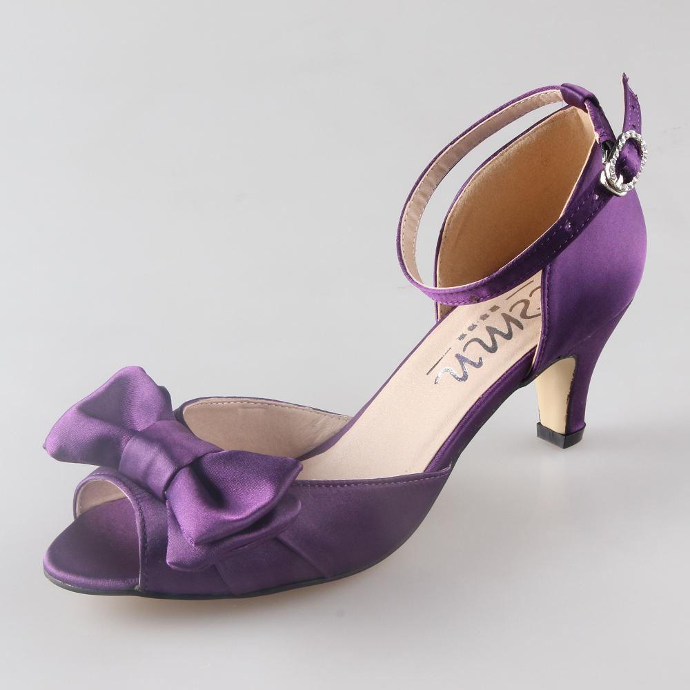 Low Heel Purple Shoes