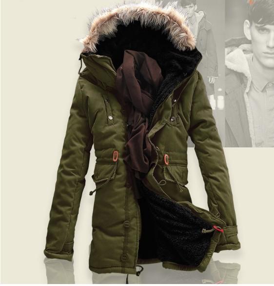 2015 Thick Warm Long Winter Jackets Men Fur Hood Warm Winter Coat Men Down Jackets Plus