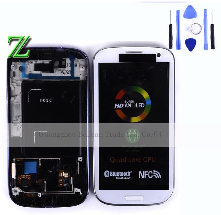 4.8inch Lcd for Samsung Galaxy S3 i9300 LCD display With touch screen Digitizer 1pcs free shipping china post +tool(China (Mainland))