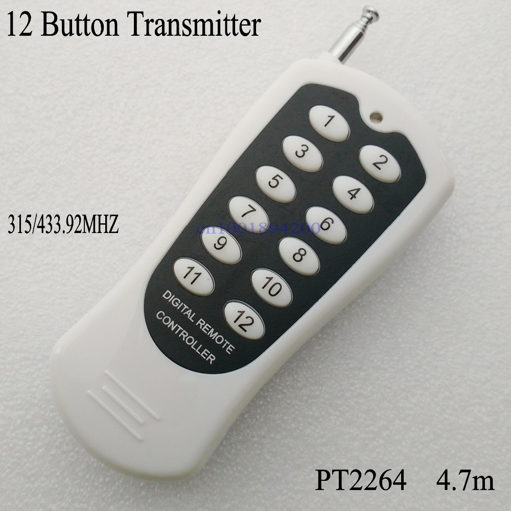 12CH/12 Buttons/Key RF Wireless Remote Control/Radio Controller/Transmitter controller 12V12CH receiver Switch 315/433MHZ - Shenzhen YK Control Electronics Co.,Ltd store