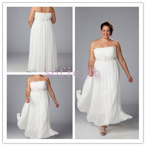 Elegant chiffon ankle length casual beach wedding dresses for Beach wedding dresses ankle length