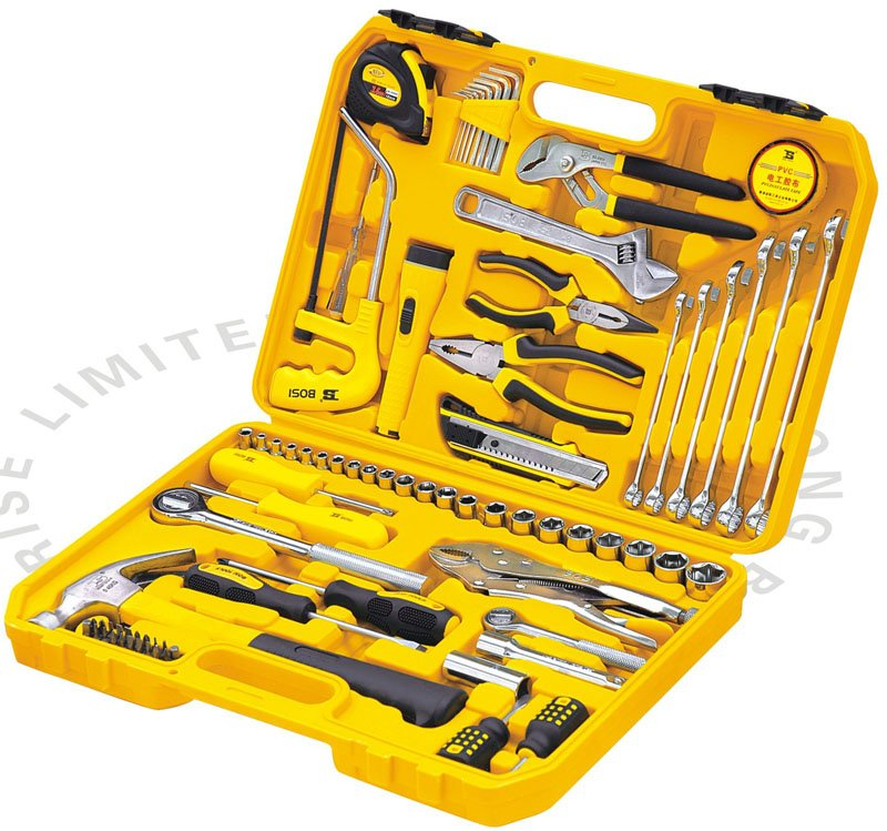 Free shipping bosi best price 78pcs mechanics repair tools kit household tool kit in hand tool - Household tools ...