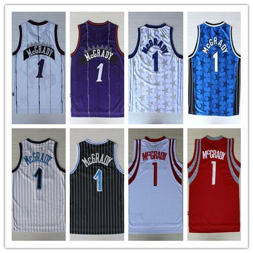 Men Hot Sale!!!! New Arrival #1 Tracy McGrady Basketball Jersey Hardwood Classic Fashion Jerseys Embroidery Lgos Throwback Shi(China (Mainland))