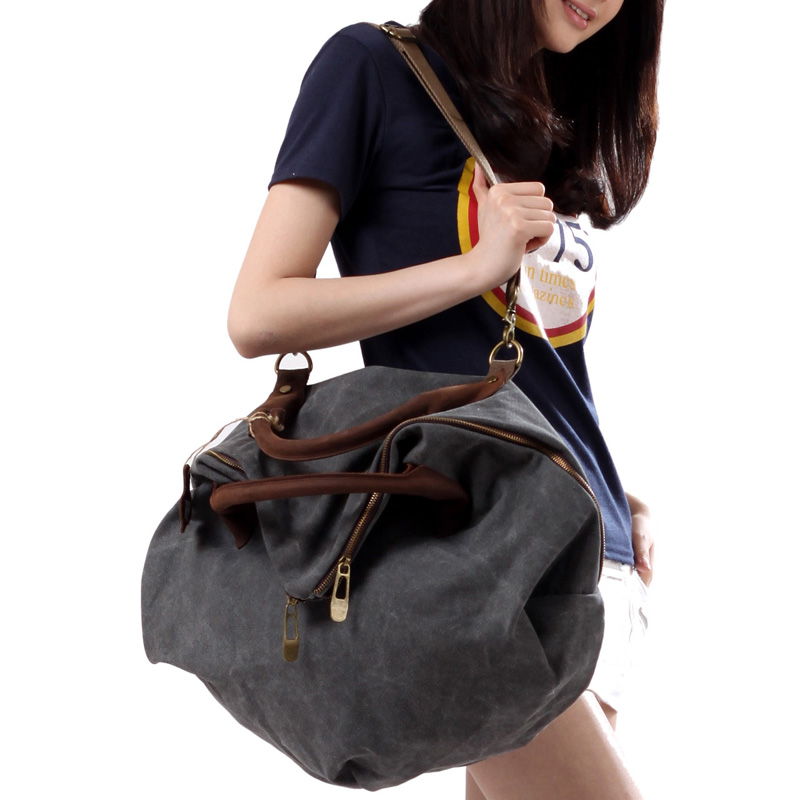 2015 hollywood style canvas women shoulder bag cowhide travel casual big handbag messenger body cross items SL37 - My Top Bag store