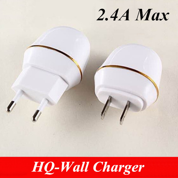 US/EU Plug 5V 2A quick charge usb wall charger adapter 2.4Amp max current universal charging for ipad/Iphone/samsung/htc/oneplus(China (Mainland))