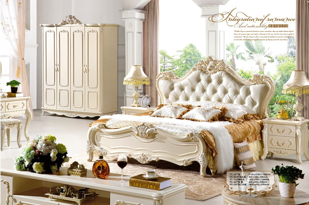 Antique Style French Furniture Elegant Bedroom Sets PC 006 In Beds