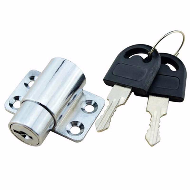5 pieces/lot free shipping sliding window lock with key child safety protection lock anti-theft door lock push window