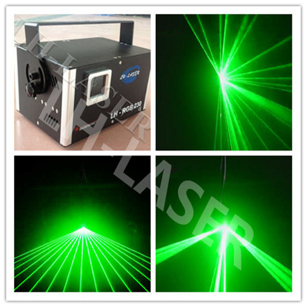 DMX +ILDA +SD Card 1W Single Green Laser with Free Ishow Software For Logo and disco(China (Mainland))