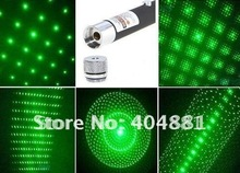 50units /lot, 10mw 5 Star Patterns laser pointer with batteries and manual