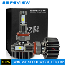 Buy SAFEVIEW H16 LED 5000K 6000K CSP Seoul WICOP LED Chip Car LED Headlight Lamp for $61.51 in AliExpress store