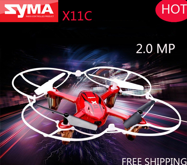 Best Price Syma X11C Quadcopter RC Helicopter Drone with Camera HD 2MP 2.4Ghz 4CH 6 Axis GYRO Toys or Syma X11 without Camera(China (Mainland))