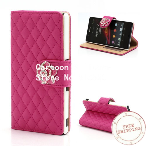 Leather Case sony xperia Z C6603 Diamond Flower Rhombus Wallet Sony Xperia  -  Iacebox Co.,Ltd (HK store)