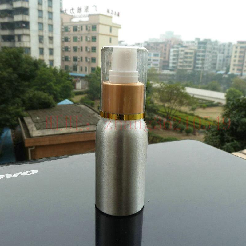50ml aluminum silver bottle With (white plastic + gold aluminum) mist sprayer.aluminum perfume bottle,50 ml aluminium bottles<br><br>Aliexpress