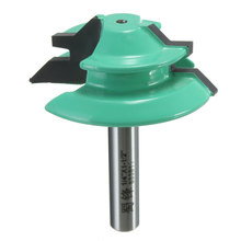 "1PC 45 Degree Lock Miter Router Bit 1/4"" Shank 1-1/2"" Diameter for Woodworking Drilling Power Tools Green Wood Cutter Hot Sale(China (Mainland))"