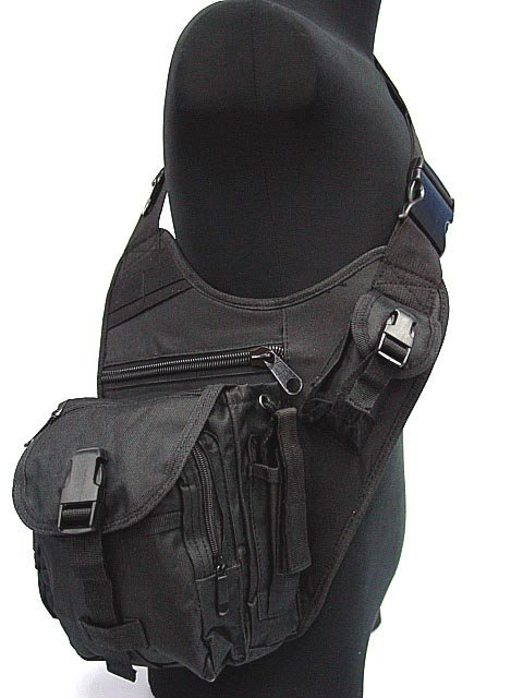 Tactical US Airsoft SWAT Utility Shoulder Bag Pouch BK(China (Mainland))