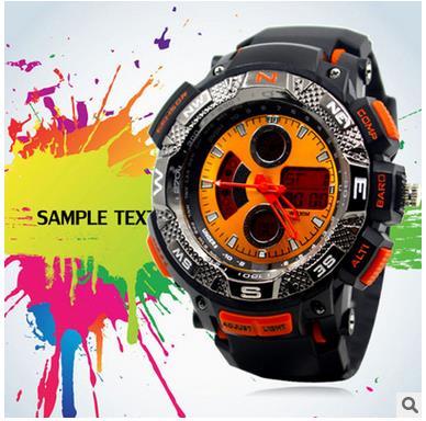 2016 Large dial belt Men waterproof sports Unisex diving watch digital atmospheric quality Lady relojes mujer women wristwatch(China (Mainland))