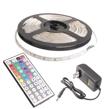 Buy 5M 3528 SMD RGB 300LED Flexible Light Strip Lamp 44Key IR remote Controller 88 Sale CLH for $9.54 in AliExpress store