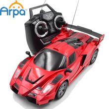 4CH Kids Radio Control Orange Yellow  Remote Control RC Racing Racer Drift Sport Car Toy,19cm(China (Mainland))