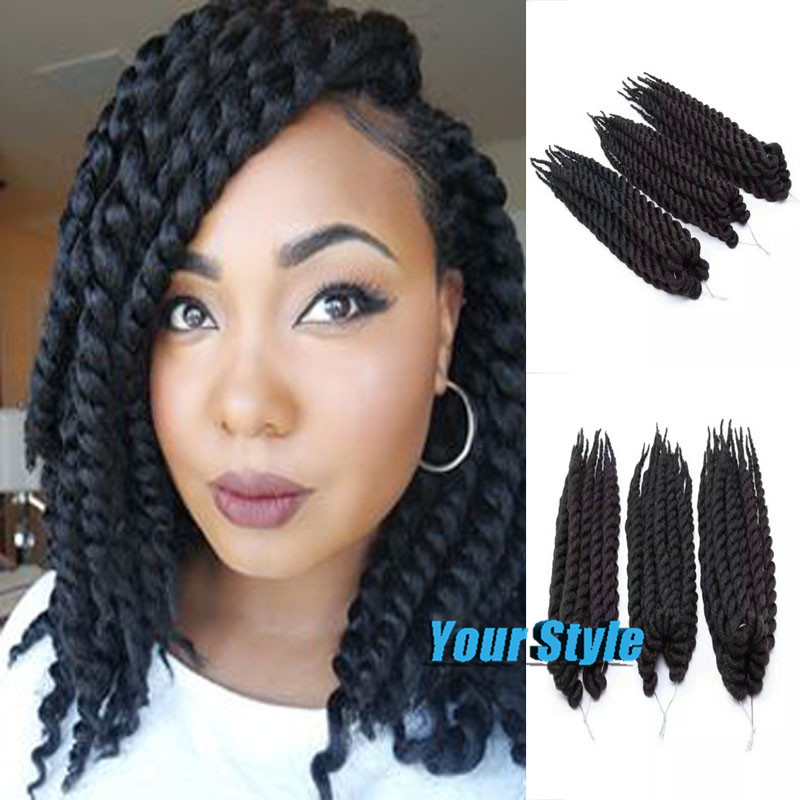 Crochet Hair Packs : 85g/pack Short length Havana Braiding Twist Synthetic crochet braids ...